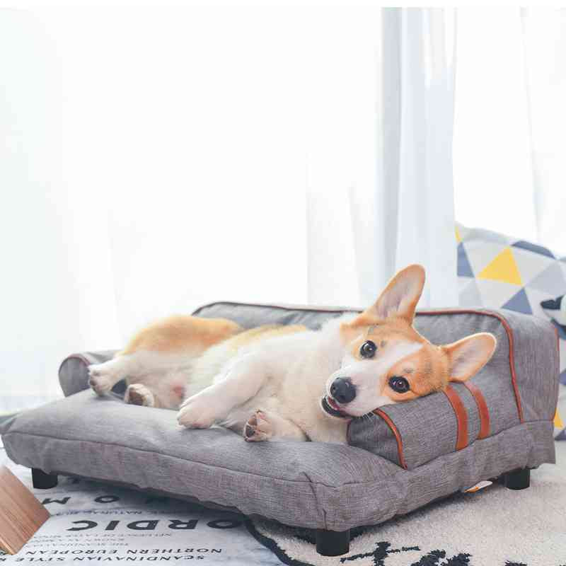 Washable Soft Elevated Pet Sofa Dog Couch Cat Bed Cloth Cover