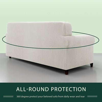 Sofa Covers Stretch Fabric Furniture Protector with Elastic Bottom Checks Durable Spandex Fabric
