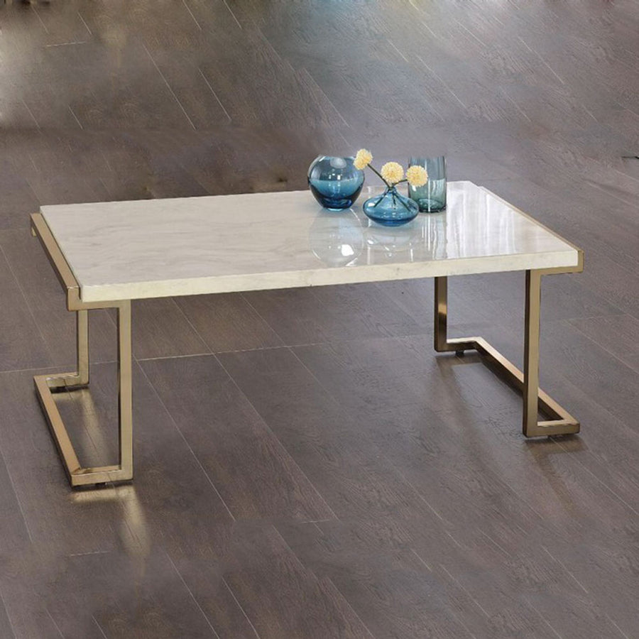 Modern Rectangle Marble Coffee Table Cocktail Table