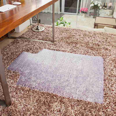 "36""X48"" Clear PVC Carpet Rug Protective Chair Mat Pad For Floor Office Rolling Chair"