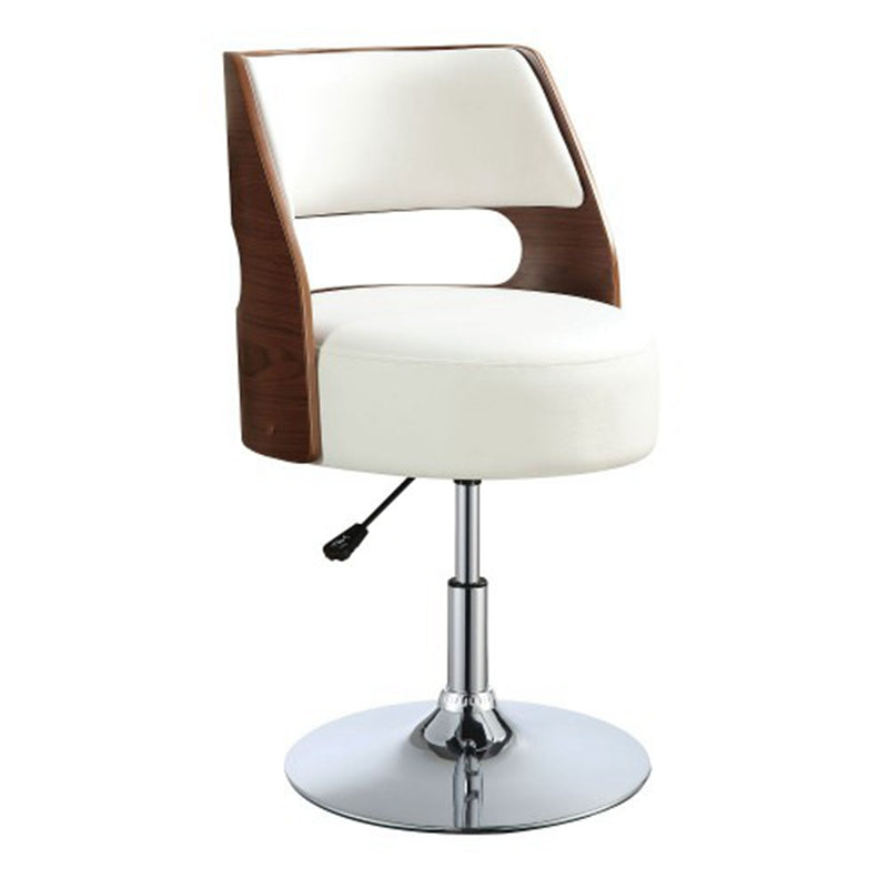 Modern Adjustable Faux Leather Swivel Bar Stool