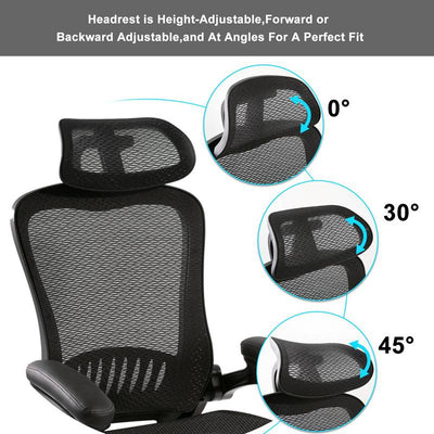 Mesh Ergonomic Office Chair Modern Design with Armrests