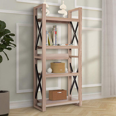 4-Tier Multipurpose Storage Shelf Modern Luxe Bookcase