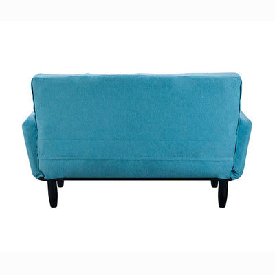 Modern Futon Bed Tufted Sleeper Sofa with Solid Wood Legs for Living Room