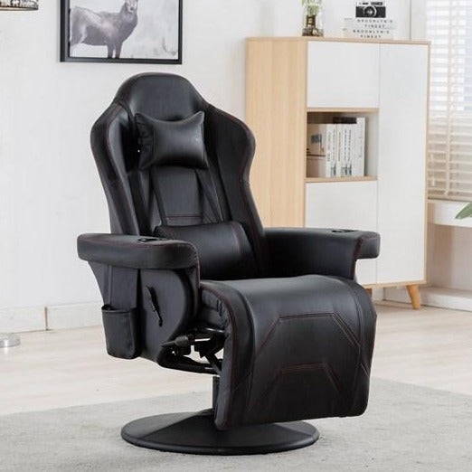 Racing Gaming Recliner Chair High Back Ergonomic with Footrest Headrest