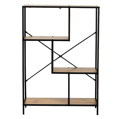 4-Tier Home Office Bookcase Rustic Display Decor Standing Racks