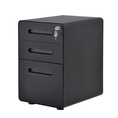 File Cabinet Office Computer Desk Lockable Storage