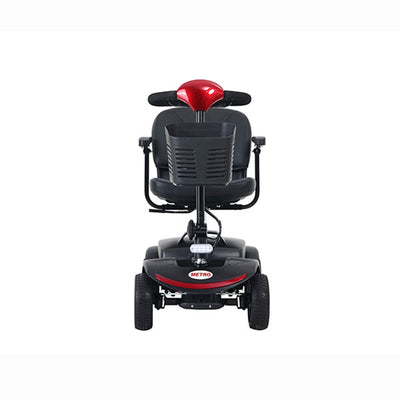Metro Red Compact Mobility Scooters with 4 Wheel for Adults Outdoor Electric Powered Travel Scooters 265 Lbs Max Weight