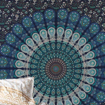 Mandala Tapestry Bohemian Aesthetic Wall Hanging Room Tapestry Décor Bohemian Indian Hippie Beach Blanket