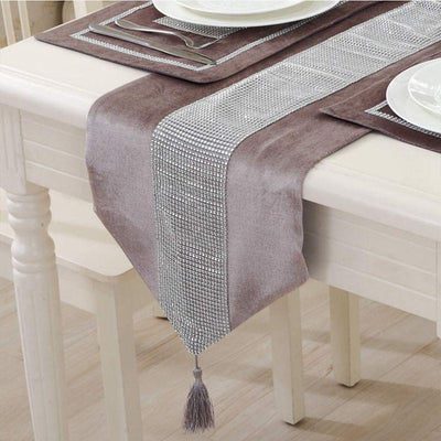 Modern Luxurious Stylish Table Runner with Diamond