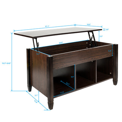 Lift Top Coffee Table Modern Furniture Hidden Compartment and Lift Tablet