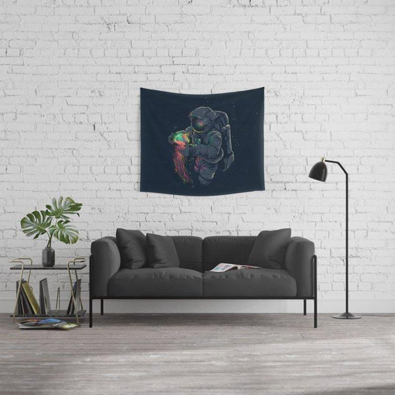 Space Astronaut Wall Tapestry Aesthetic Tapestry Wall Hanging Home Decoration for Bedroom Living Room
