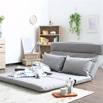 Adjustable Fabric Folding Chaise with Pillow Lounge Sofa Chair Floor Couch Lazy Sofa Bed Double Bed