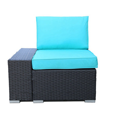 6 Piece Outdoor Sectional Sofa Set Patio Wicker Furniture Garden Seating Couch