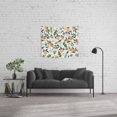Orange Grove Wall Tapestry Home Decoration for Bedroom Living Room