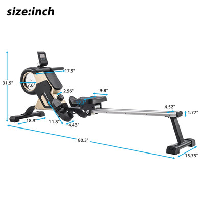 8-level Resistance Compact Magnetic Rowing Machine Fitness Equipment for Home Gym