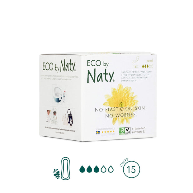 Compresas Normal Sin Alas - ECO by Naty - Kiara
