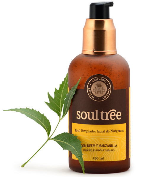 Gel Limpiador Facial Nutgrass con Neem - 120ml - Soultree