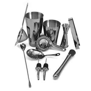 Black Stainless Steel Barware Set (13 Pieces)