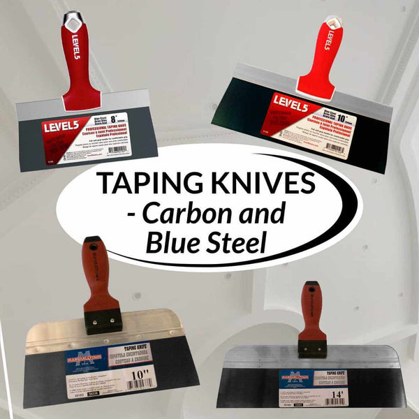 Taping Knives - Carbon and Blue Steel
