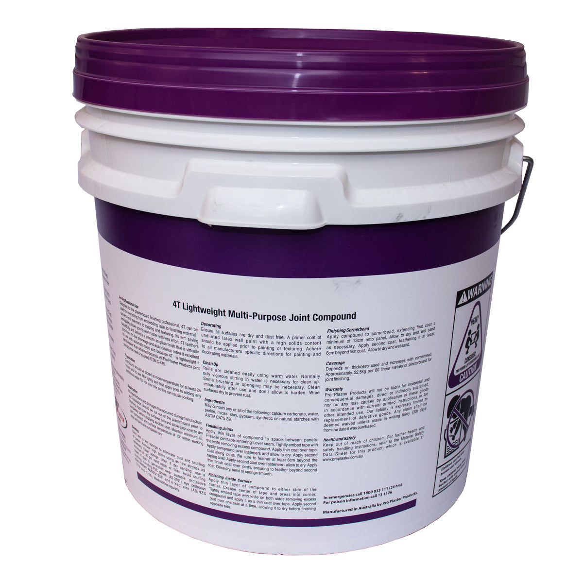4T Multi Purpose Tinted Bucket 15L (Purple Lid)