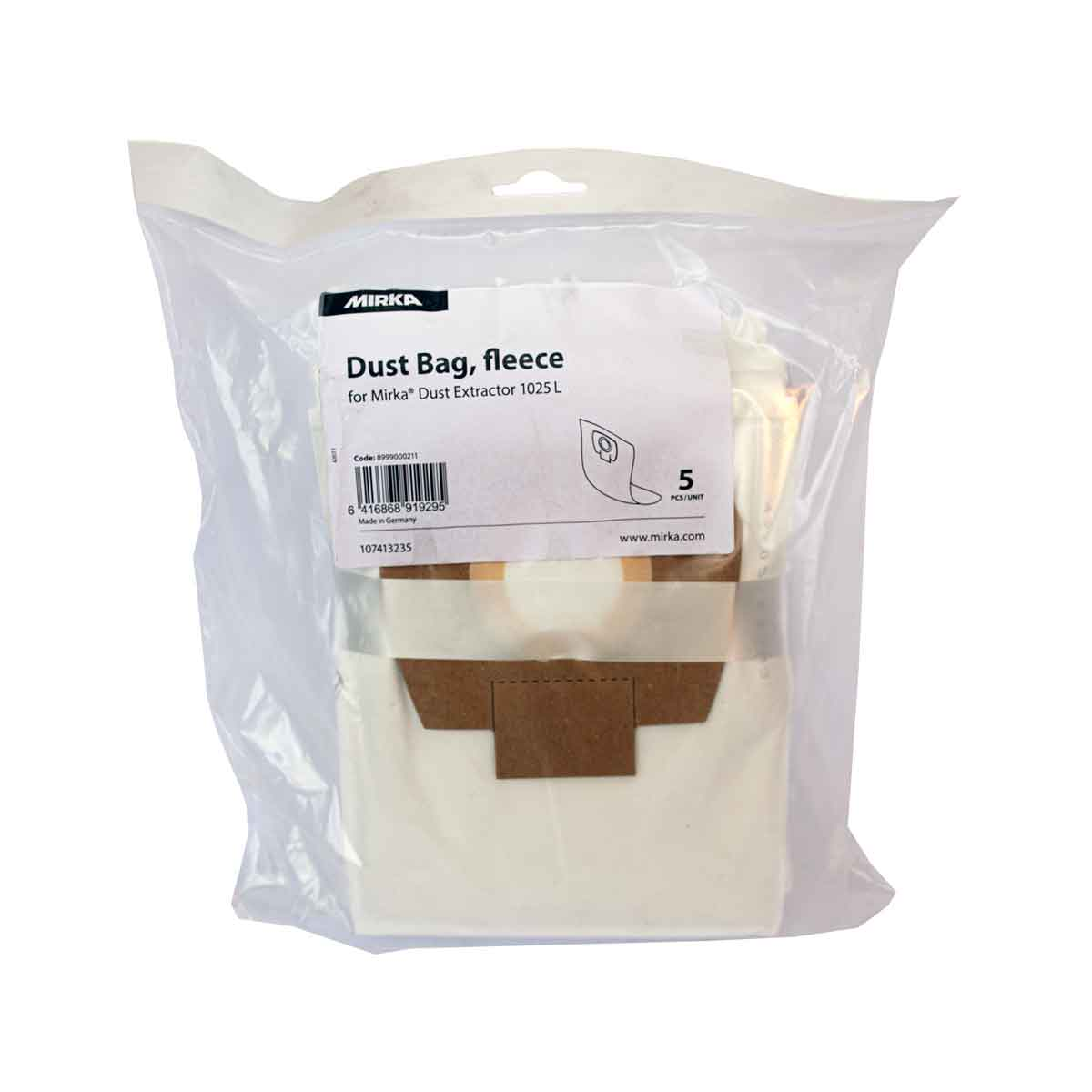 Dust Bag Fleece 1025 5 Pack Mirka