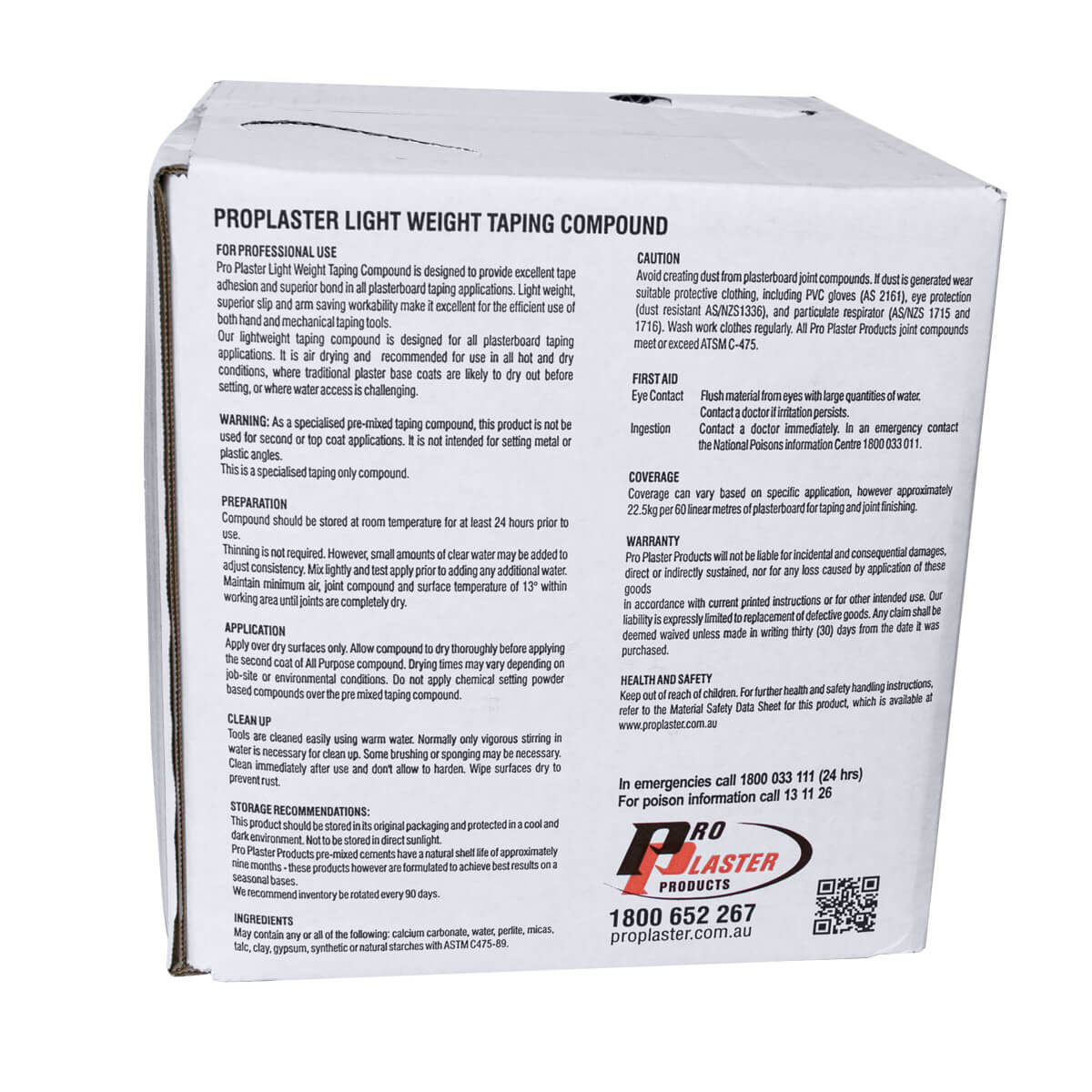 Taping Compound LW Refill Box 13.8Ltr Pro Plaster
