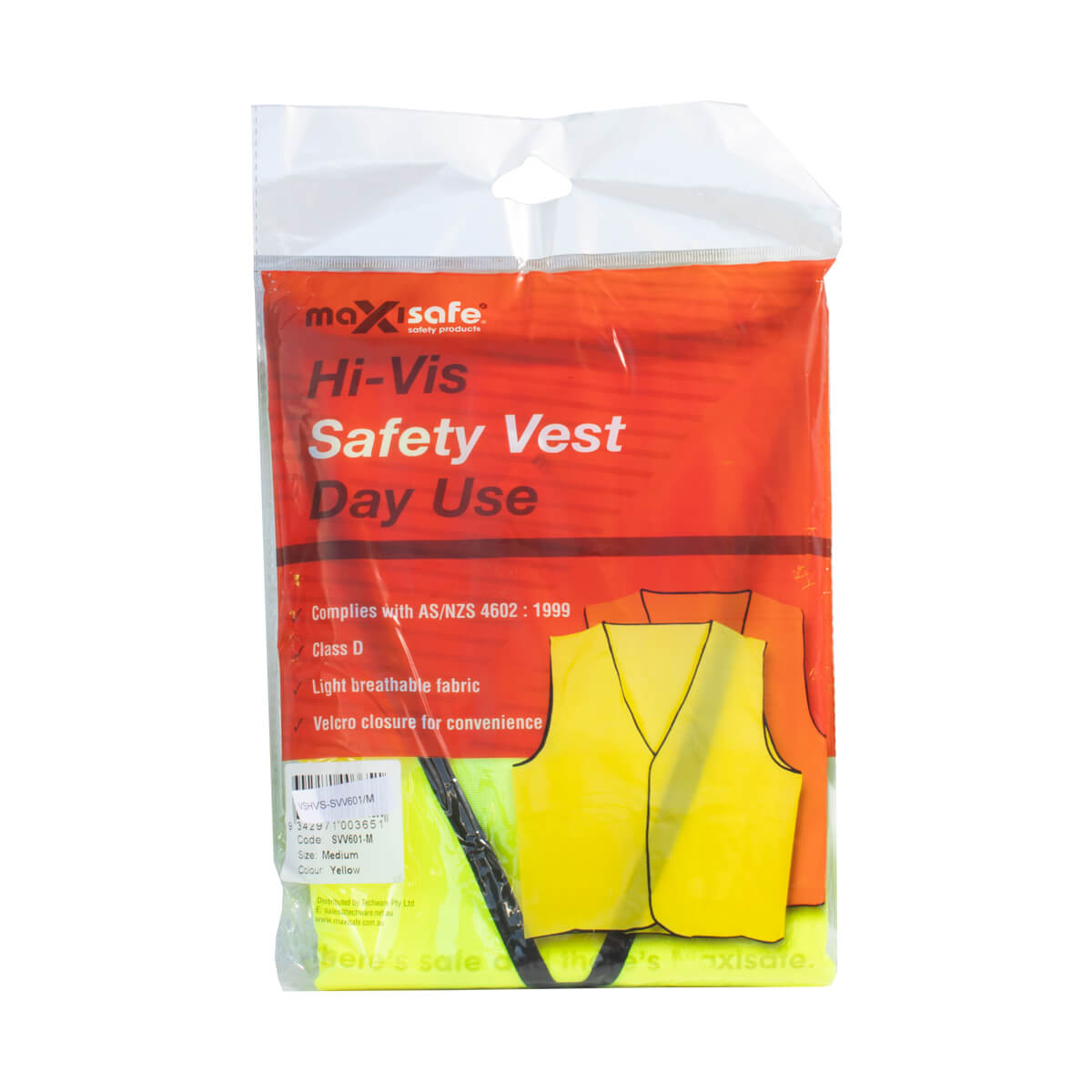 Vest Hi-Vis Yellow Medium MaxiSafe
