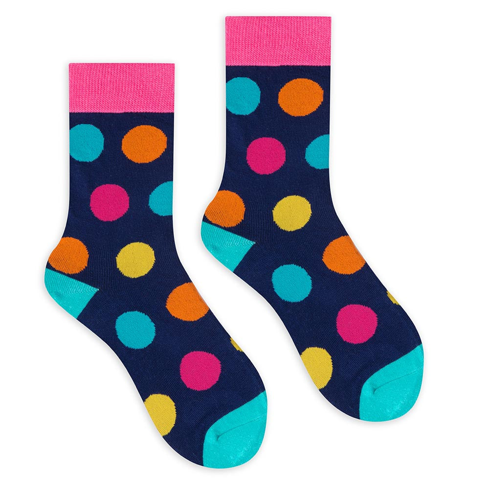 Colorful Dots Crew Socks