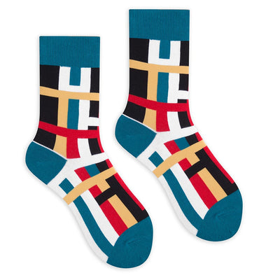 Clear Stripes Crew Socks