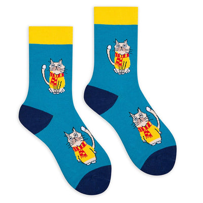 Stupid Cat Crew Socks