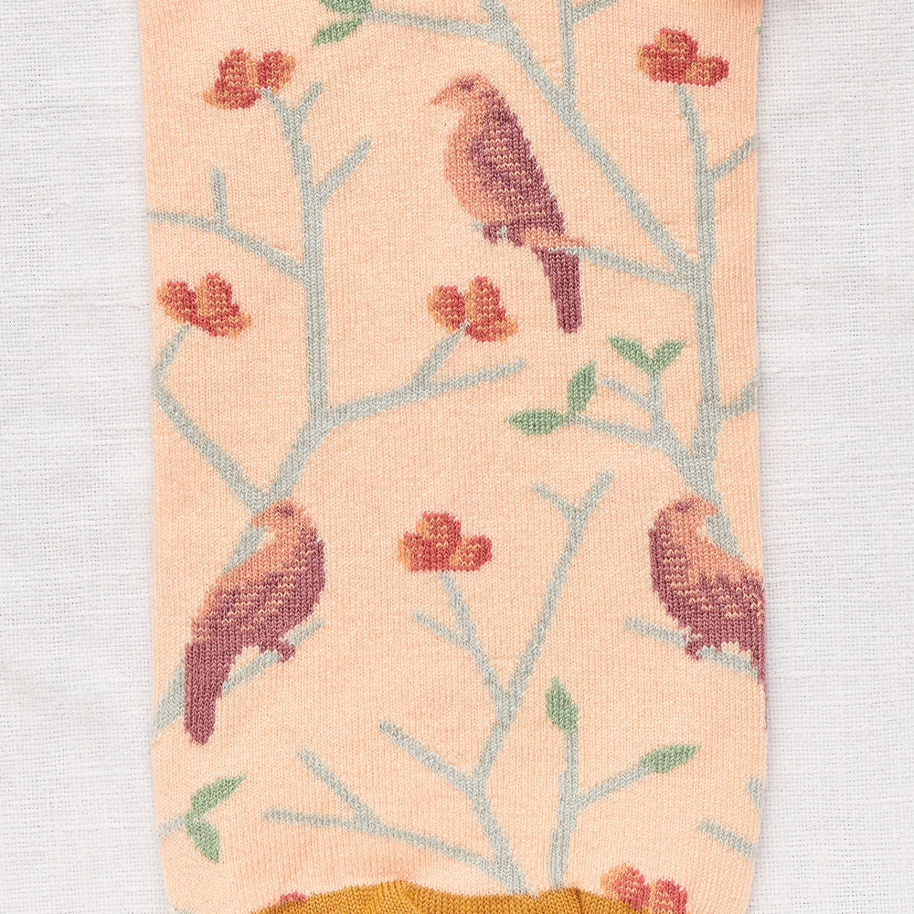 Arabesque Rosebud Pink Birds Low