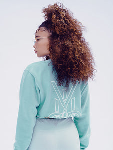 VISUS LOGO CROP CREWNECK • MINT
