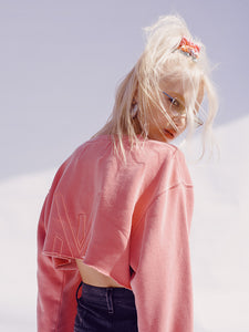 VISUS LOGO CROP CREWNECK • ROSE