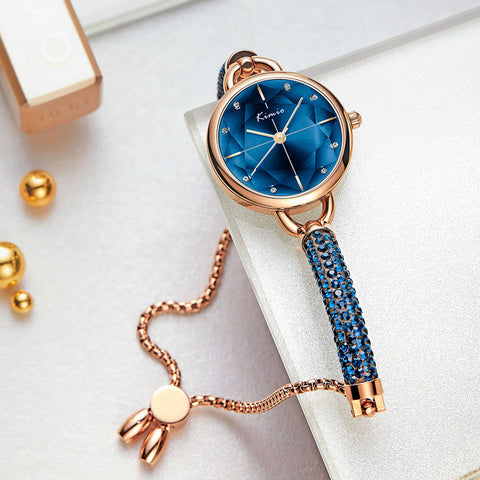 Kimio Simple Women Bracelet Watch Ladies Diamond Crystal Band Quartz Watches Fashion Luxury Waterproof Wristwatch 2020 New