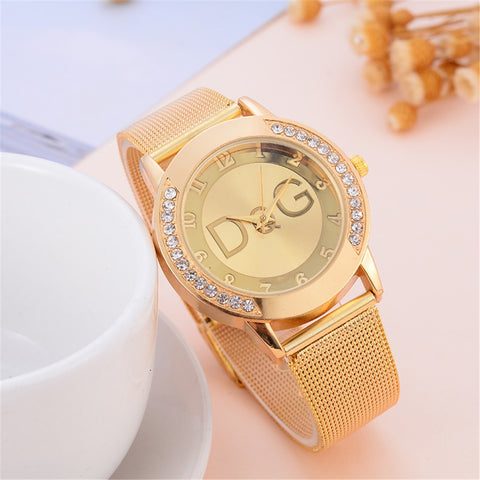 2020 New Fashion Women Watch Luxury Brand Quartz Watches Reloj Mujer Casual Stainless Steel Wristwatches