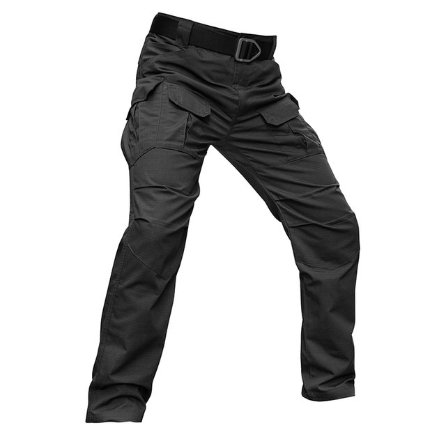 Men's Stretch SWAT Combat Rip-Stop Many Pocket Cotton Casual Pants