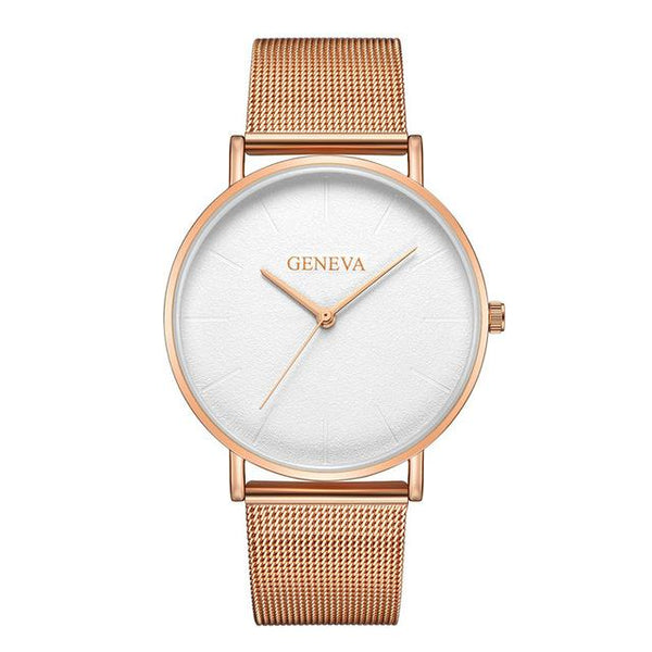 2019 Women's fashion gold Rose women's watch silver woman reloj mujer saat relogio zegarek damski