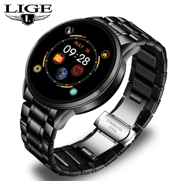 LIGE Smart Watch Men Watch Sports Fitness Tracker For Android ios LED Heart Rate Sphygmomanometer Waterproof Smart Watch Women