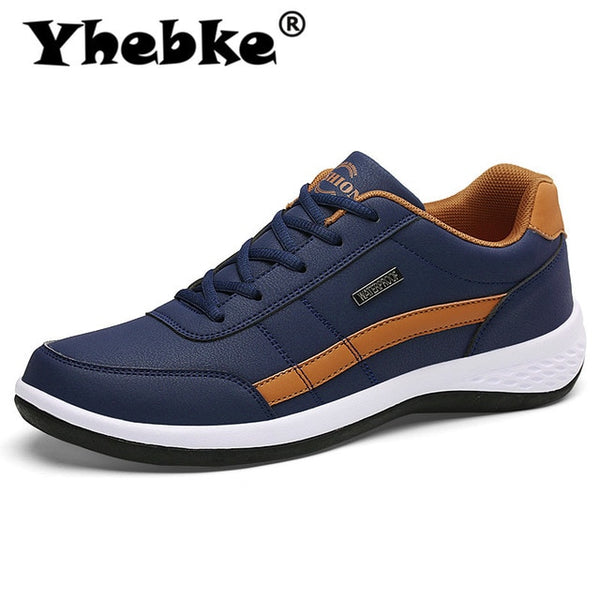 Yhebke Fashion Men Sneakers for Men Casual Shoes Breathable Lace up Mens Casual Shoes Spring Leather Shoes Men chaussure homme