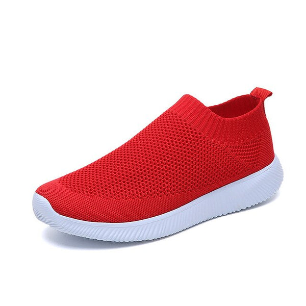 2020 Sneakers Women Casaul Shoes Fashion Slip On Flats Shoes Knitted Vulcanized Sock Shoes Women Trainers Tenis Feminino
