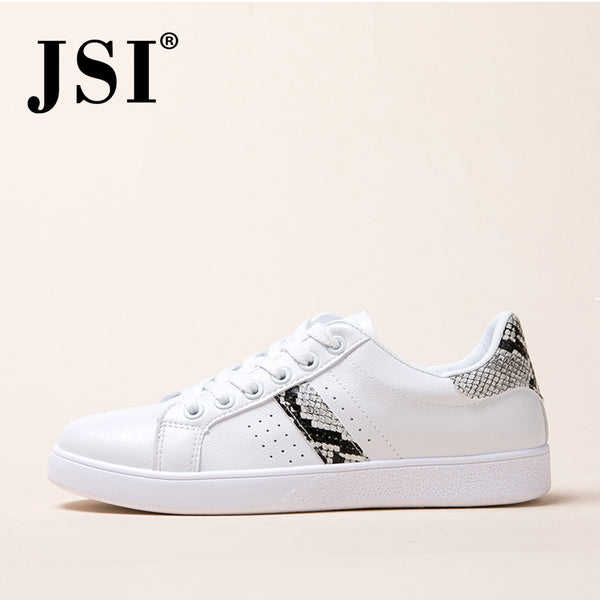 Women's Little White Shoes JSI New Sneaker Handmade Flats