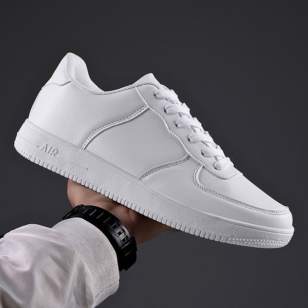 New Sneakers Leather Men Shoes Fashion Casual Lightweight Breathable Zapatillas Man Casual Shoes Big Size 39-48 Drop Shipping