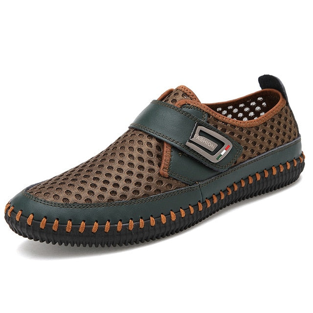 Men Flats Loafers Breathable Casual Real Leather casual Shoes