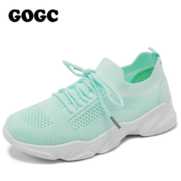 womens fashionable sneakers mesh flats sport shoes
