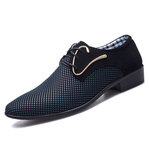 Business PU Leather Shoes Men Breathable Rubber Formal Dress Shoes
