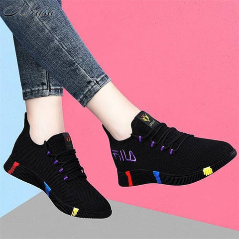 Women spring casual shoes Breathable Mesh platform Sneakers