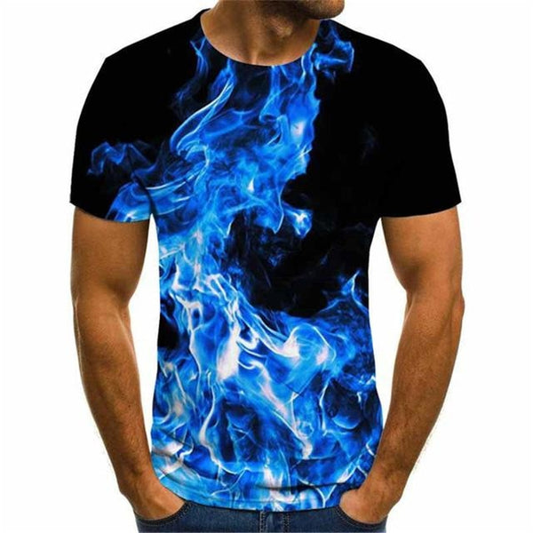 Men Women Summer Fashion Short sleeve 3D Lightning Printed Tshirt