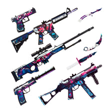 "Load image into Gallery viewer, M4A4 Active ""Neo-Noir"" Automatic Assault Rifle / Wooden Souvenir / Wooden Replica / shoots rubber bands"