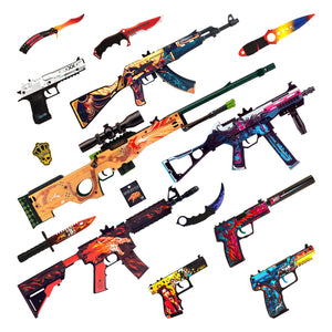 "M4A4 Active ""Neo-Noir"" Automatic Assault Rifle / Wooden Souvenir / Wooden Replica / shoots rubber bands"